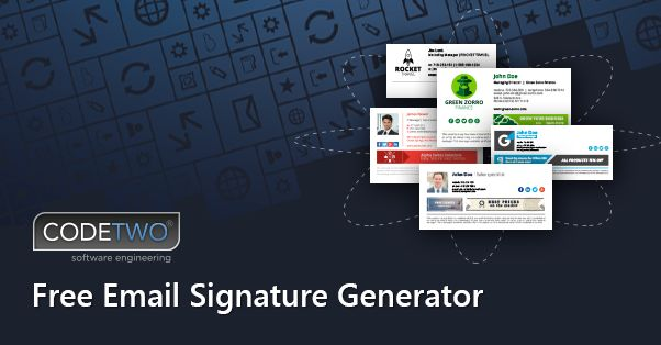 Email signature generator with beautiful, ready to use signature templates. Prepare your signature in no time!