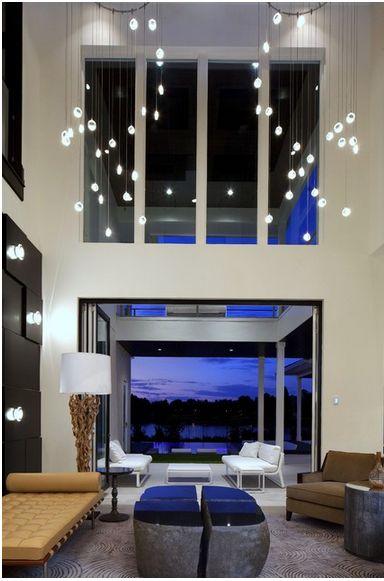 Composição Com Os Três Pilares: Abajur De Piso, Iluminação De Parede E  Pendente De. Modern Lighting DesignLight DesignInterior Lighting DesignLiving  Room ...