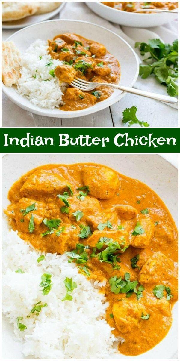 Indian Butter Chicken Recipe by RecipeGirl.com #i …