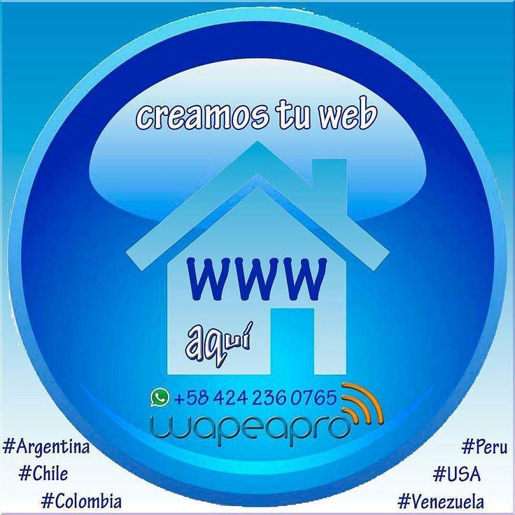 Síguenos en instagram @wapeapro Elaboramos tu página web #Argentina #Chile #Colombia #USA #Venezuela #SocialMedia #Community #Manager #CommunityManager #www #webpage #webmaster #web #internet #facebook #instagram #twitter #youtube #pinterest #vimeo #tumblr #snapchat #linkedin - #regrann
