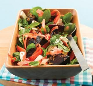 Roast beetroot salad with feta and mint recipe   Australian Healthy Food Guide