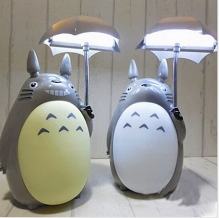 New LED Totoro Light lamp Rechargeable kawaii Baby Cartoon Night Light Reading light bedside lamp for Child gift Lamp Home Decor