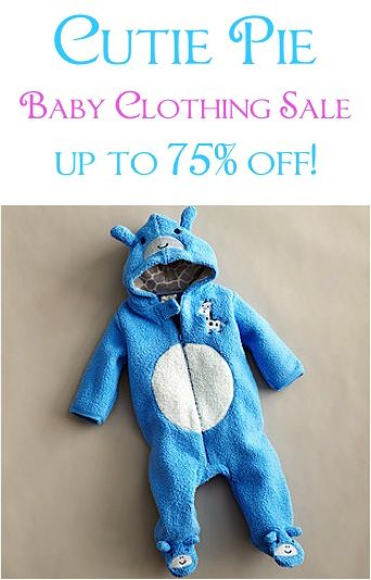 Cutie Pie Baby Clothing Sale: up to 75% off!