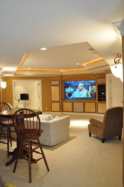 open media room idea: Home Tours, Style, House Ideas, Media Room, Homes, Basement Ideas, Basement Color, Evolution, Bedroom Ideas