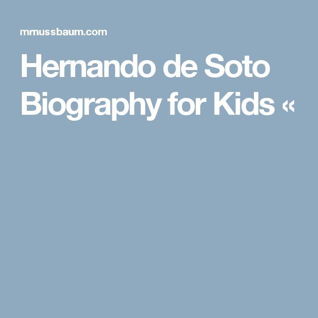 Hernando de Soto Biography for Kids «