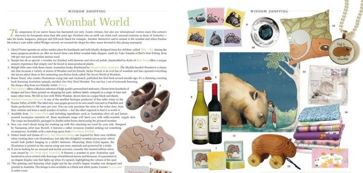 My Wombat print in Homespun Magazine