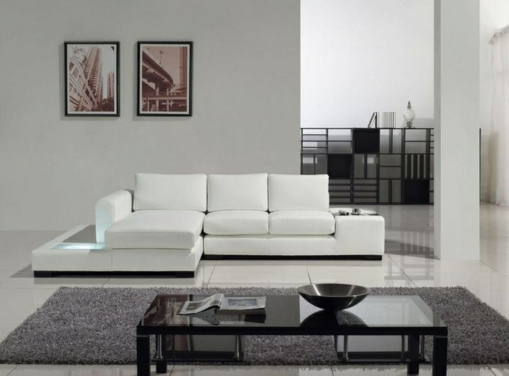 Tosh Furniture Modern White Compact Leather Sectional Sofa The Tosh Furniture Modern White Compact Leather Sectional Sofa Isn T Just Modern It S Ultra