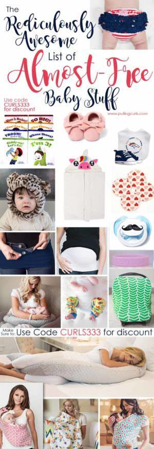 Almost free baby stuff! Pregnancy / new mom / new parents / pacifier / sling / diaper cover