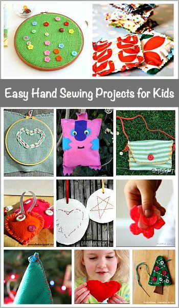 Easy Hand Sewing Projects for Kids: Lots of great beginner sewing projects that make great homemade gifts!