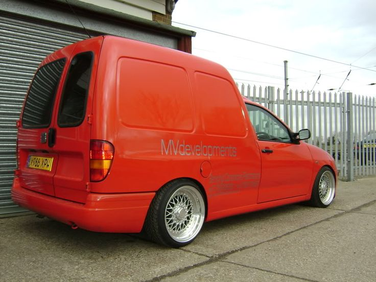 Red Vw Caddy Mk2 Actually Seat Inca On Bbs Rs Wheels