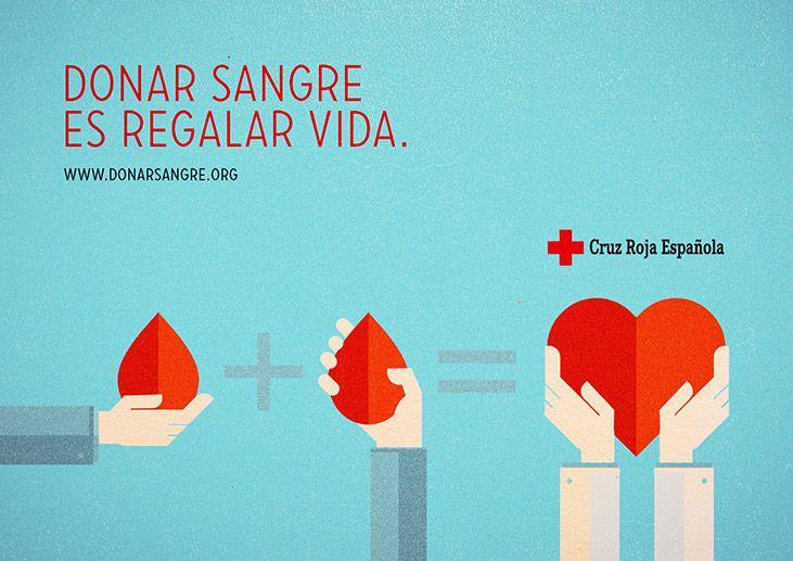 Cruz Roja Española. Donar Sangre es regalar vida. - Iñaki Saiz Roiz ::: Art Direction & Design