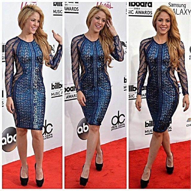 FASHION FROM BILLBOARD MUSIC AWARDS 2014#shakira #fashion #stylish #style #look #lookbook #gerardpique #metallicdress #thevoice #fashionista #legs #heels #christianlouboutin #louboutin #sandals #realityshow #judge #blonde #brunette #onthefloor #music #dance #worldcup2014 #dress... - Celebrity Fashion