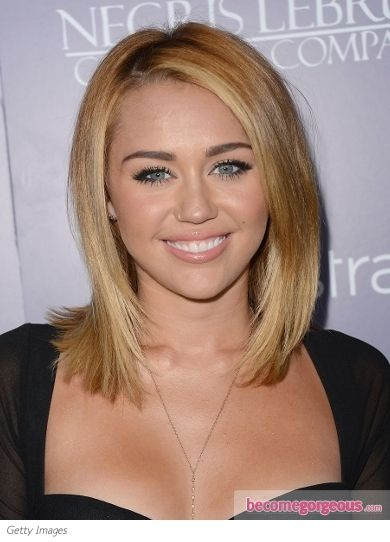 31 Stylish Miley Cyrus' Hairstyles & Haircut Ideas For You ... |Miley Cyrus Shoulder Length Hair 2012