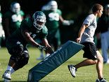 The sun was shining and it felt like it was finally summer during Michigan State's football practice Friday, August 16.