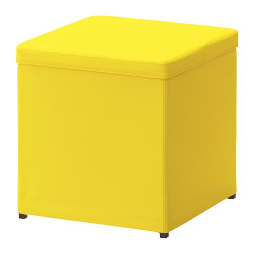 BOSNÄS Footstool with storage IKEA The cover is easy to keep clean as it is removable and can be machine washed. Works as an extra seat or f...