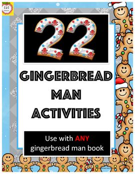 In Gingerbread Man:  22 activities for any gingerbread man book, by the2teaches, you will receive a 60 page product.WHAT IS INCLUDED?You will receive 22 activities that can be used with any gingerbread man book.  A list of suggested books is provided, but you can use ANY book.ACTIVITIES INCLUDE:- 3D gingerbread man narrative element man- story summary- cause and effect- retell (beginning, middle, end)- compare and contrast (within one book)- compare and contrast (narrative elements across…