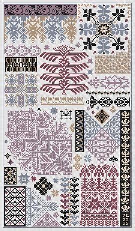 Sarabande | Keresztszemes | Вышивание крестиком, Вышивка сэмплер и Современная вышивка крестом