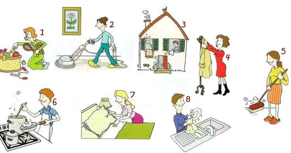Le faccende domestiche