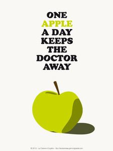 """Image of Affiche """"One Apple…"""" tirage limité numéroté 100ex."""