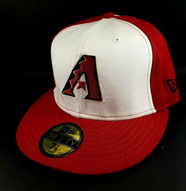 #MLB #ARIZONA #DIAMONDBACKS #NEWERA #HAT Red #White Fitted Size 7 1/8 #Baseball #CAP #BaseballCap #BaseballHat #eBay #HatCap