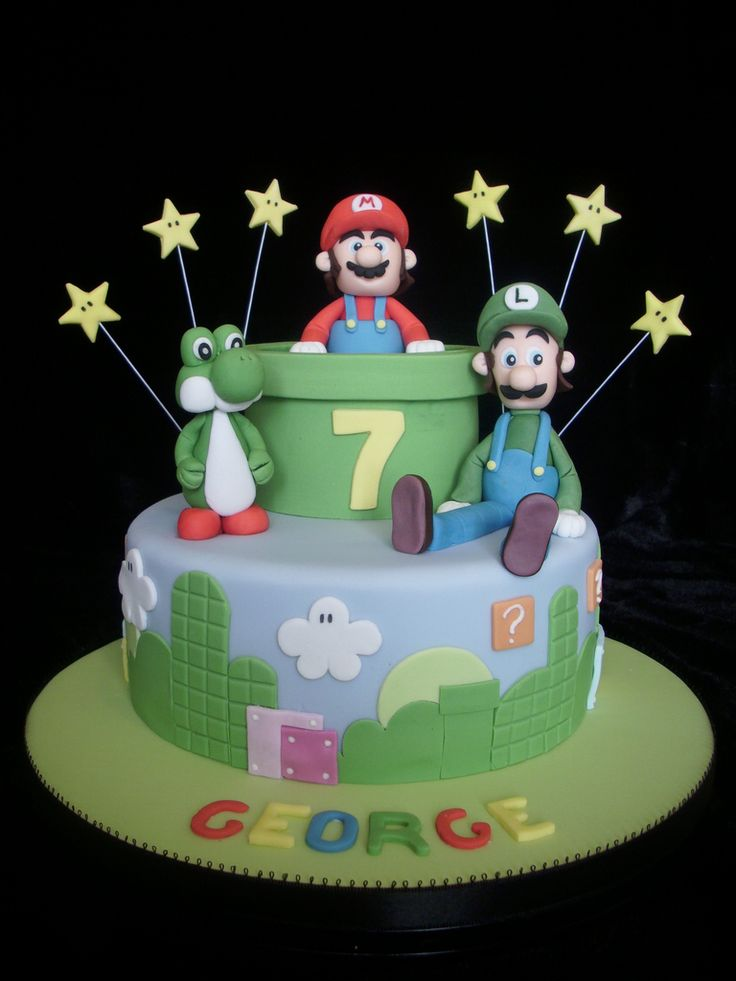 11 Best Mario Brothers Cupcake Toppers Images On Pinterest