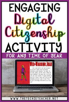 Are you looking for a fun way to review the core values of digital citizenship? Check out this FREE technology themed activity that will turn your students into web-warriors that uses Google Slides and a superhero creator website.