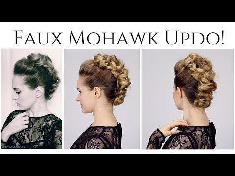 Trendy mohawk updos! Photo gallery & video tutorials!