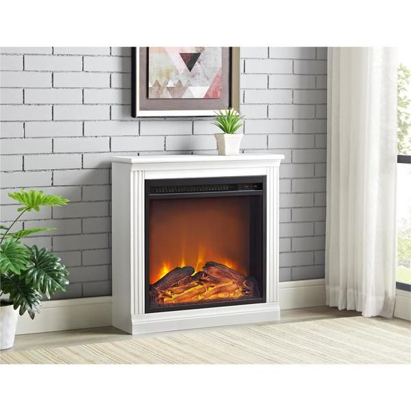 Ameriwood Home Bruxton Electric Fireplace N A Simple Fireplace Fireplace