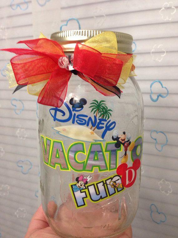 Walt Disney World Vacation Fund Jar on Etsy, $10.00