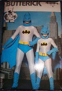 Butterick 4201 Vintage Men's/Boys Batman Costume Size Size Boys Small 8-10 - Sewing Patterns