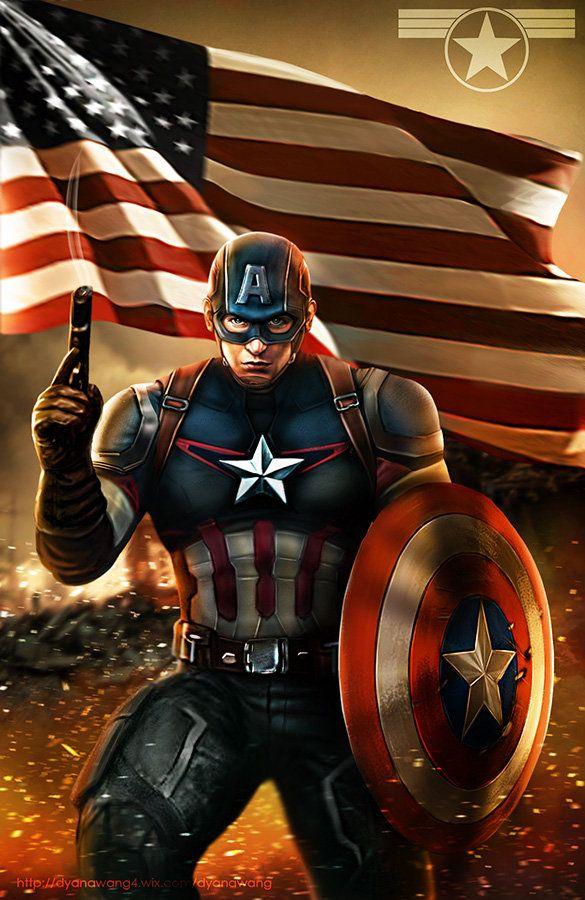 Captain America, Dyana Wang on ArtStation at https://www.artstation.com/artwork/captain-america-21bed198-1056-4743-9802-6d9a35ac3d87