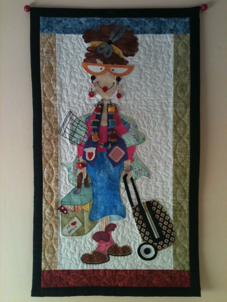 """Mural """"I love Patch"""" realizado en patchwork con acolchado a máquina (modelo Quilt Diva)."""