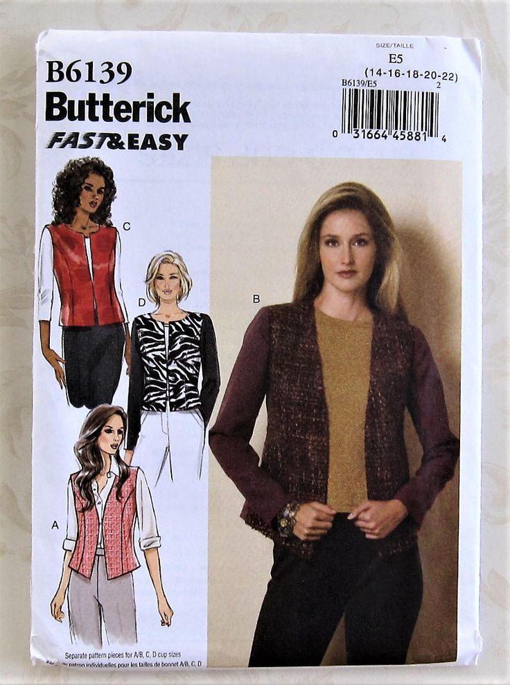 Sewing Pattern Butterick B6139 Women/'s Dress Uncut Size 14-16-18-20-22
