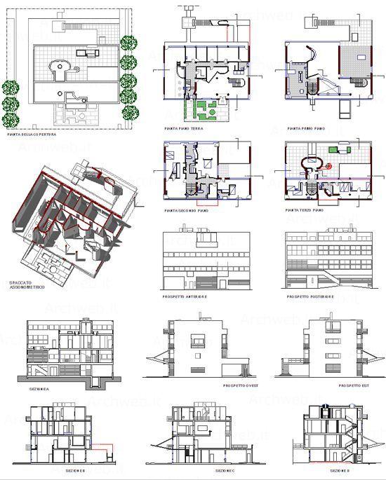plan de distribution en 2d Architectural de la villa stein