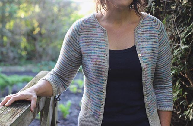 Fancy a #timelycardigan in your perfect colours? Head over to @skeinyarn quick! Theyre dyeing stripes to order this week! Choose your perfect combo on their gorgeous Daintree Merino/silk/bamboo base