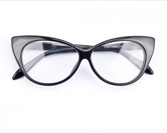 2017 Brand New Designer Cat Eye Glasses Women Gafas Retro Fashion Black Women Glasses Frame Clear Lens Vintage  Eyewear