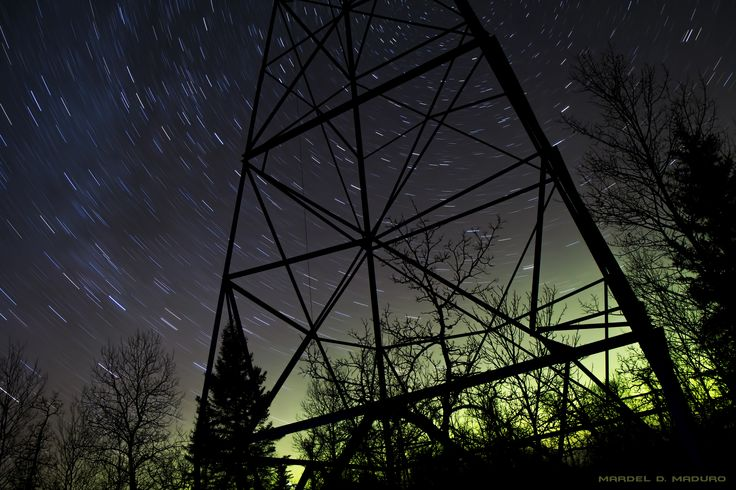 Star Trails in the Night Skies