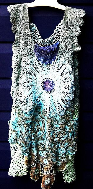 little miss seafoam crochet doily dress | Flickr - Photo Sharing!