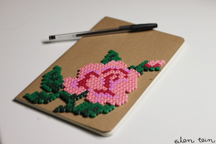 Notebook with HAMA-rose