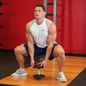 Plie Dumbbell Squat  This should be pinned on my Fitness board, but look at this man!