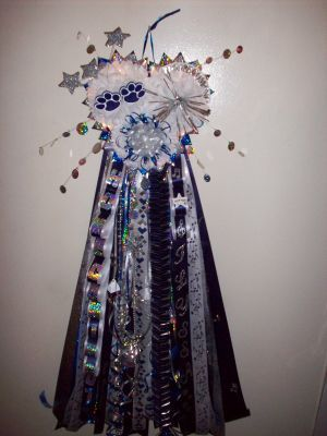 Homecoming Mums - Junior Triple Heart Mum for Homecoming - Special Event Floral Designs
