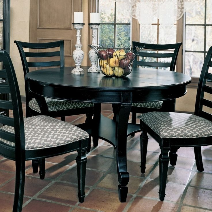Black Round Kitchen Table With Chairs