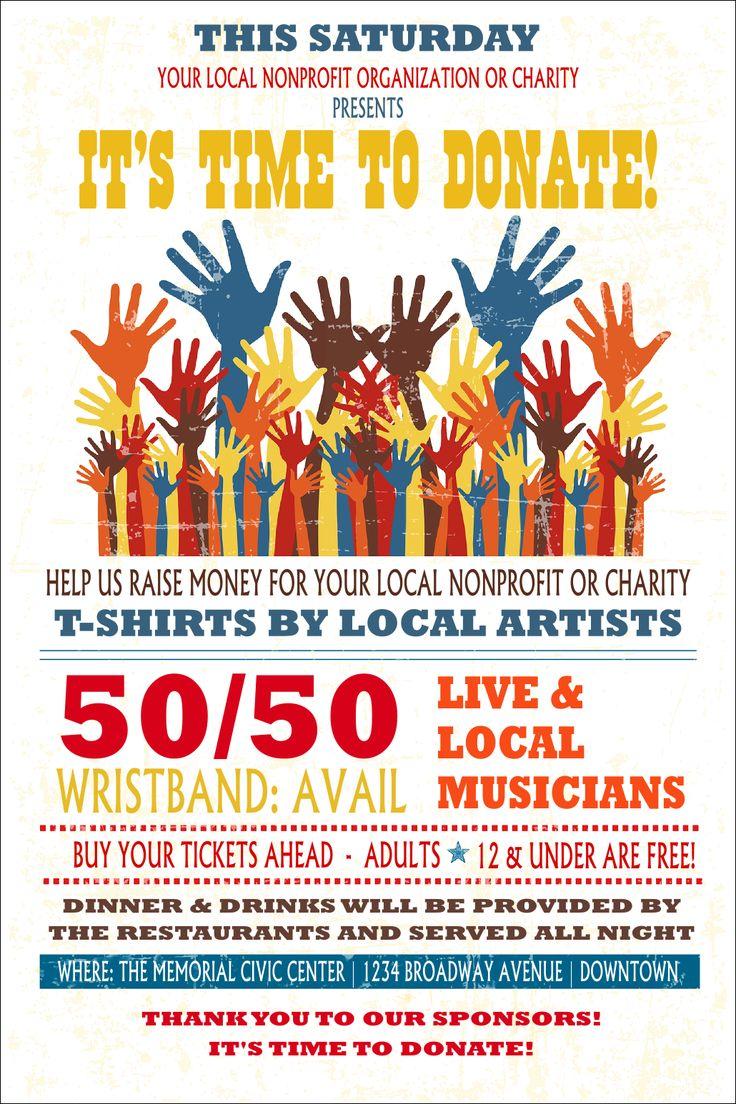 Fundraising Hands Poster Fundraising activities