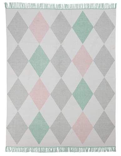 Jox, Matta i bomull, 130 x 170 cm, Rosa Mattor Textilier Barnrum på nätet hos Lekmer.se