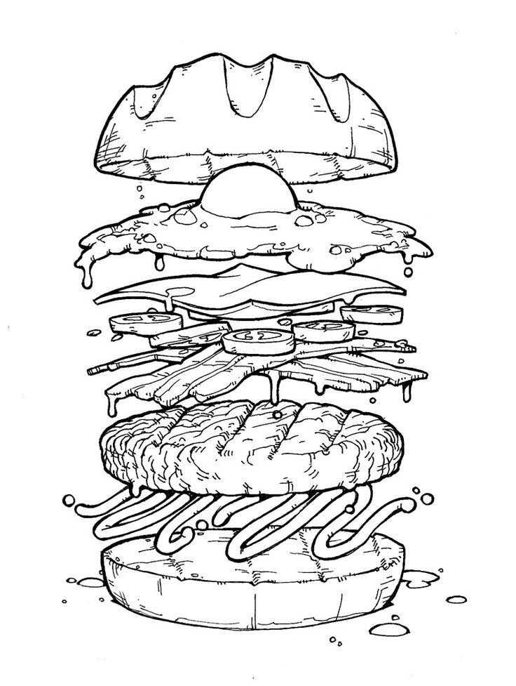 бургеры рисунок вектор