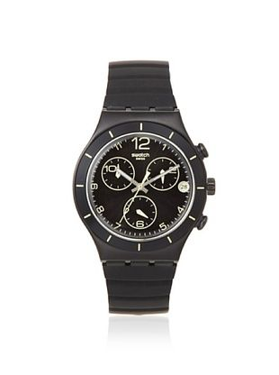 Swatch Men's YCB4021 Black Silicone Watch
