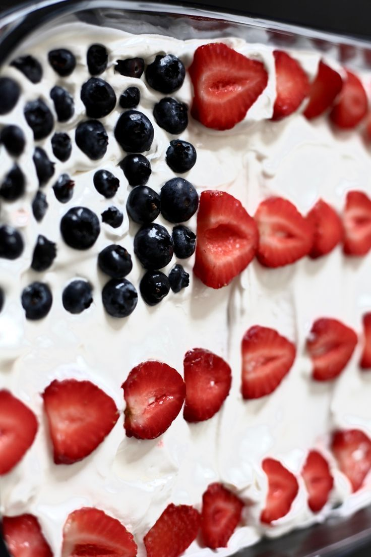 Bo Bake Strawberry and Blueberry Flag Cake - perfect for 4th of July, Memorial Day or the upcoming Election Day!