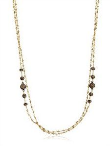 Angelo Di Spirito Rosa - Milky Diamonds And Pearl Rosary Necklace | FashionJug.com