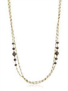 Angelo Di Spirito Rosa - Milky Diamonds And Pearl Rosary Necklace | FashionJug.com