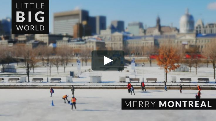 Enjoy Montreal  during its merry pre-holiday season. Travel from Old Town to the Olympic Stadium and enjoy the view from Mount Royal in 3 adorable minutes. A tilt-shift…